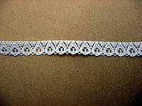 Біле синтетичне мереживо, 10 мм
