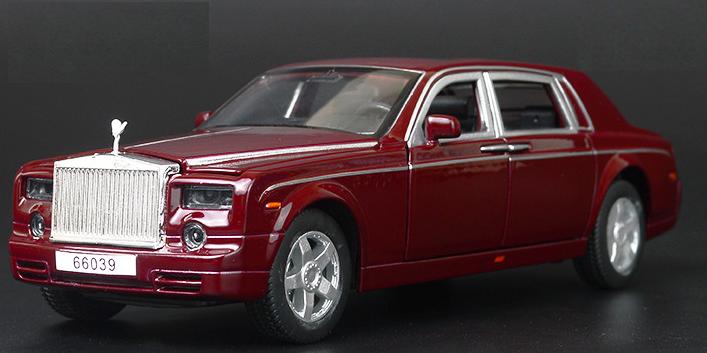 Машинка Rolls Royce Phantom (1:32) Вишневый