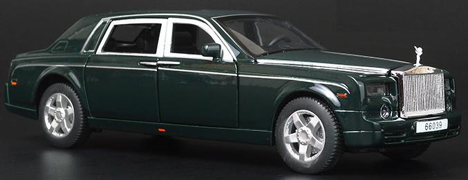 Машинка Rolls Royce Phantom (1:32) Темно зеленый