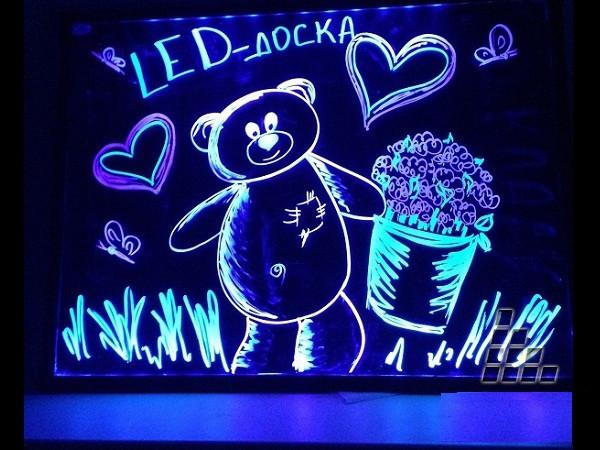 Реклама  LED флуоресцентная доска 30х40 - ООО ФРОГ в Одессе