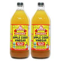 Bragg, Органический продукт, Яблочный уксус с первичной обработкой, Нефильтрованный, 946 мл