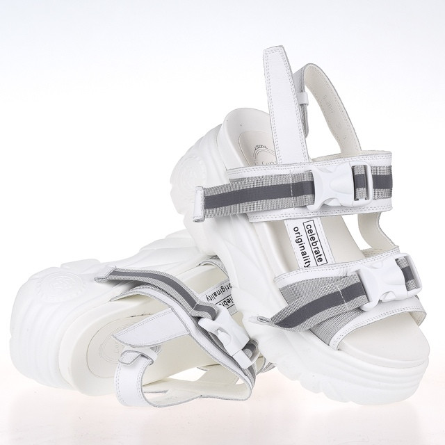 Стильные удобные  женские Босоножки Loris Bottega WG-2067 WHITE лето 2020