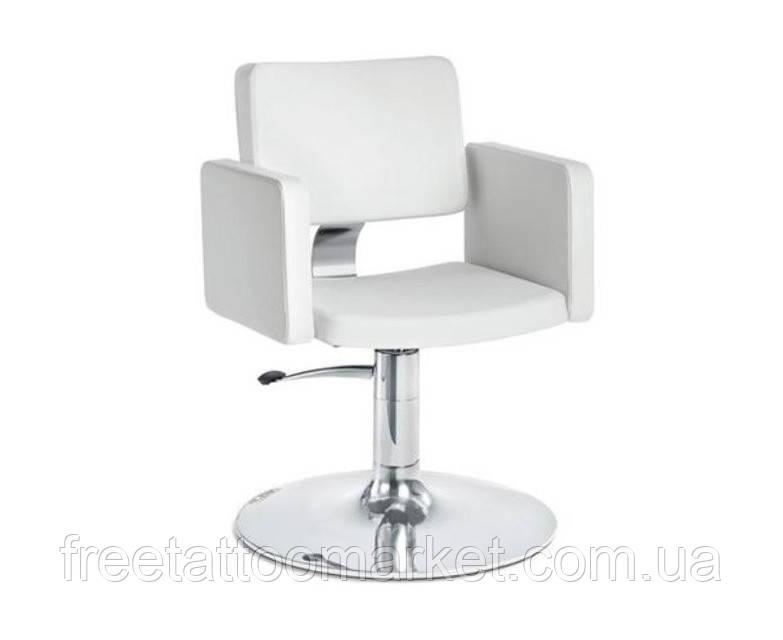 """Кресло парикмахерское """"OLIMP"""" на гидравлике хром, квадрат"""
