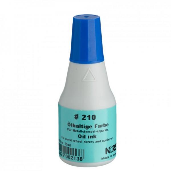 Краска штемпельная на масляной основе Trodat 210 нестираемая 25 мл синяя