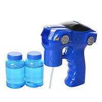 Детский игрушечный пистолет-машинкасмыльнымипузырями 99085 со звуковыми и световыми эффектами