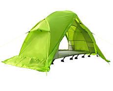 Палатка туристическая непромокаемая одноместная с раскладушкой для туризма