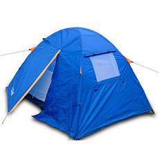 Палатка туристическая, непромокаемая, одноместная с раскладушкой для туризма