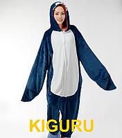 Теплая пижама кигуруми акула