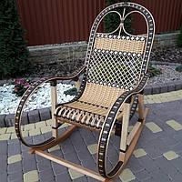 Кресло-качалка из лозы + заплетеный ротанг розборное