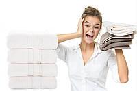 Махровое полотенце Aqua Fiber Premium 100*150 молоко, фото 1
