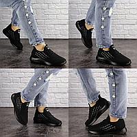 Женские черные кроссовки Millo 1581 Текстиль . Размер 40 - 24,5 см. Обувь женская