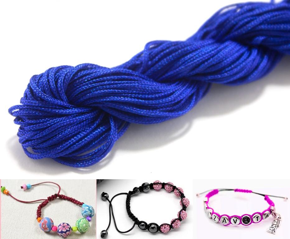 (20метров) Шнур нейлоновый,капроновый (шамбала) 1мм Цвет- Синий