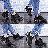 Женские черные кроссовки Person 1729 Сетка . Размер 38 - 24 см. Обувь женская