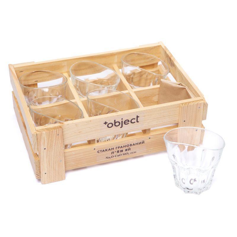 Набор 6 пьяных необычных стаканов для виски 320 мл BST 520006 29х21х14 см. Стиль Жизни