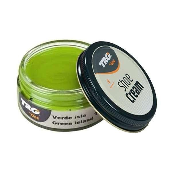 ✅ Зеленый крем для обуви из гладкой кожи TRG Shoe Cream, 50 мл