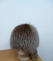 Меховая шапка Сноп чернобурой лисицы (окрас золочение)