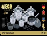 Набор посуды из нержавеющей стали Benson BN-197 (18 пр.)