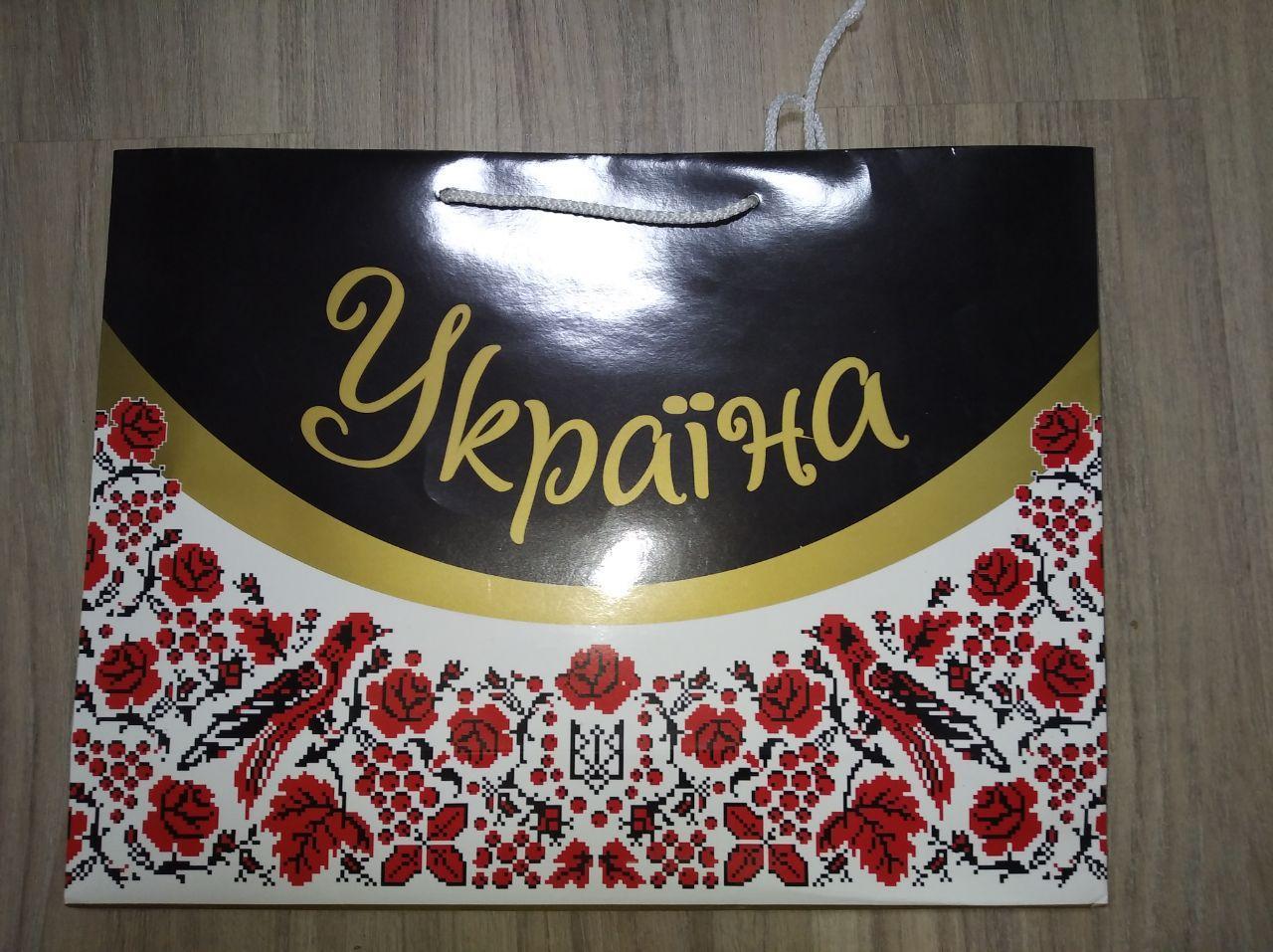 """Украинский пакет """"Україна"""" с маками"""