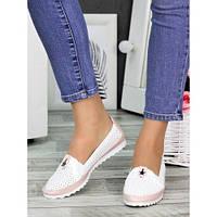Туфли мокасины летние кожаные 7326-28, фото 1