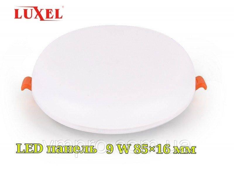 LED панель вбудована Luxel кругла, 9W 4000K (DDR-9N)