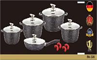 Набор посуды с мраморным покрытием Benson BN-328