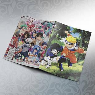 Блокнот Аниме А6 на скобе Naruto 36 листов 03