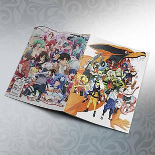 Блокнот Аниме А6 на скобе Naruto 36 листов 06