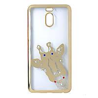 Чехол для Meizu M6 Note силиконовый с рисунком Fashion Case Giraffe