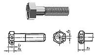 Болт ГОСТ 7796-70 уменьшенная голова, оц, нержавеющий А2, А4, латунный