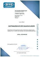 Сертификат Официального Дилера OTC-Daihen