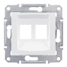 Накладка Schneider-Electric Sedna для коннекторов 2-модуля UTP кат. 6 кат.5е (SDN4400621)
