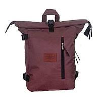 Рюкзак городской Cool'ok Roll top R3 Коричневый 22 л, для учёбы, поездок, с карманом для ноутбука