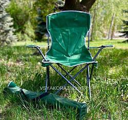 Стул раскладной для пикника с подлокотниками L / Стілець розкладний для пікніка з підлокітниками (зеленый)
