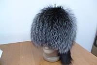 Меховая шапка Сноп чернобурой лисицы