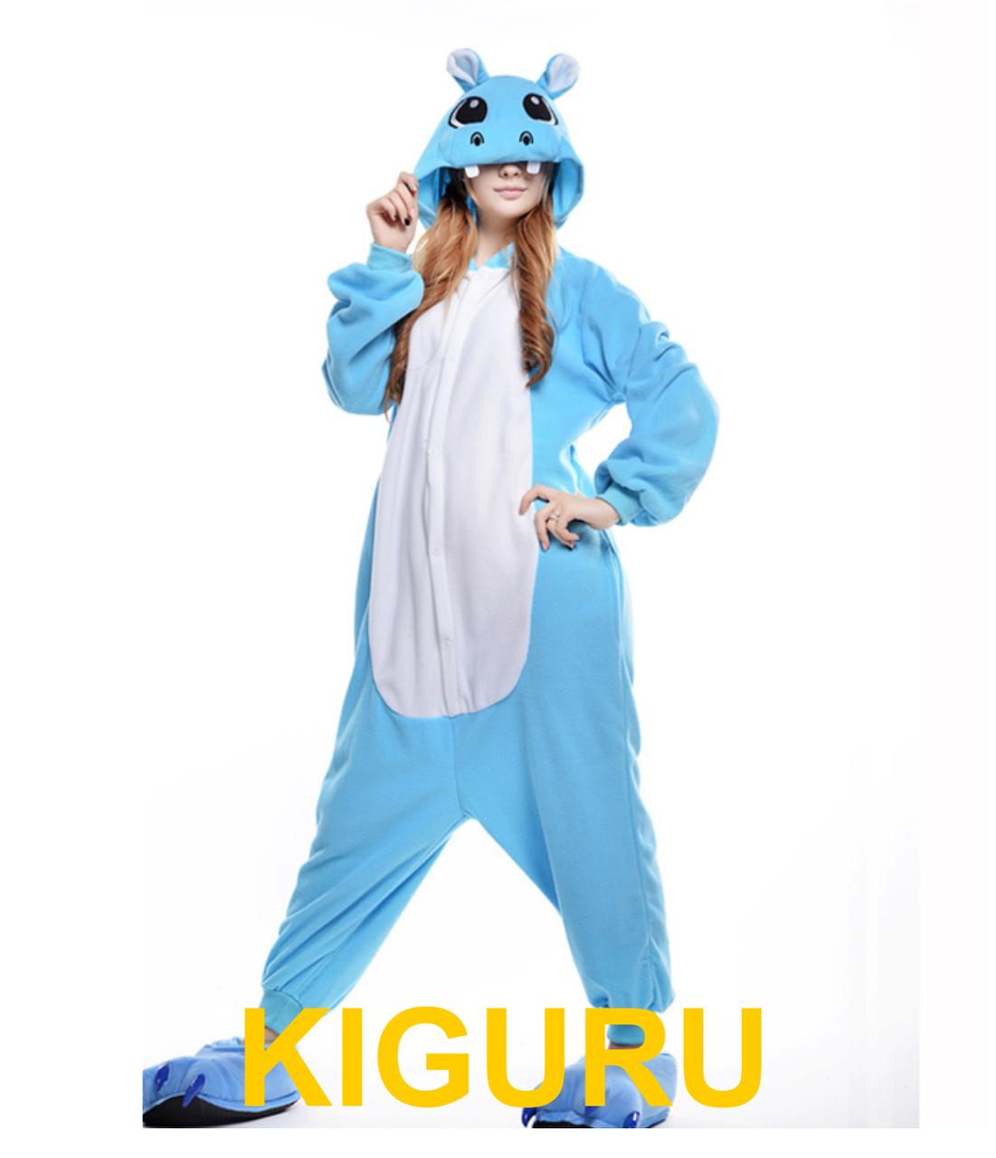 8888a2c846fca Теплая пижама костюм кигуруми бегемот Hippo, цена 699 грн., купить в ...