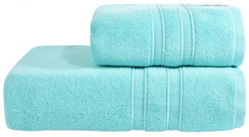 Махровое полотенце Aqua Fiber Premium 70*140 голубой