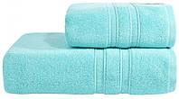 Махровое полотенце Aqua Fiber Premium 70*140 голубой, фото 1