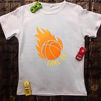 Мужская футболка с принтом - Баскетбол