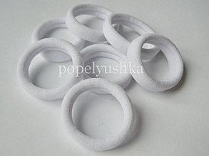 Гумки тонкі 3,5 см білі (10шт)