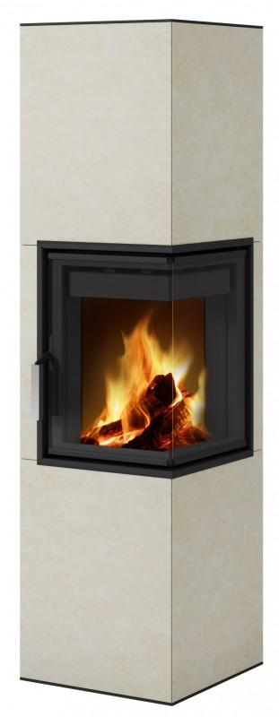 Угловая печь камин для дачи дровяная длительного горения Hein CORNEA R 2S