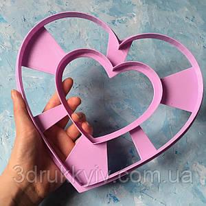 Вирубка ТОРТ - СЕРЦЕ 22см. / Вырубка - формочка для торта - сердца, коржей 22 см. / Торт - сердце