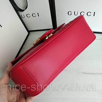 Сумочка Gucci красная кожаная, фото 3