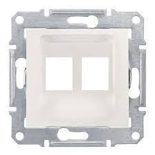 Накладка Schneider-Electric Sedna для коннекторов 2-модуля UTP кат. 6 кат.5е (SDN4400621) Слоновая кость