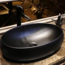 Накладна раковина для ванної Nordic Black Art. Модель RD-441. Овальна 60х40х14