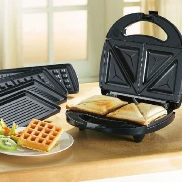 Тостер универсальный WimpeX WX1056 (3 в 1) бутербродница гриль, вафельница, сэндвичница