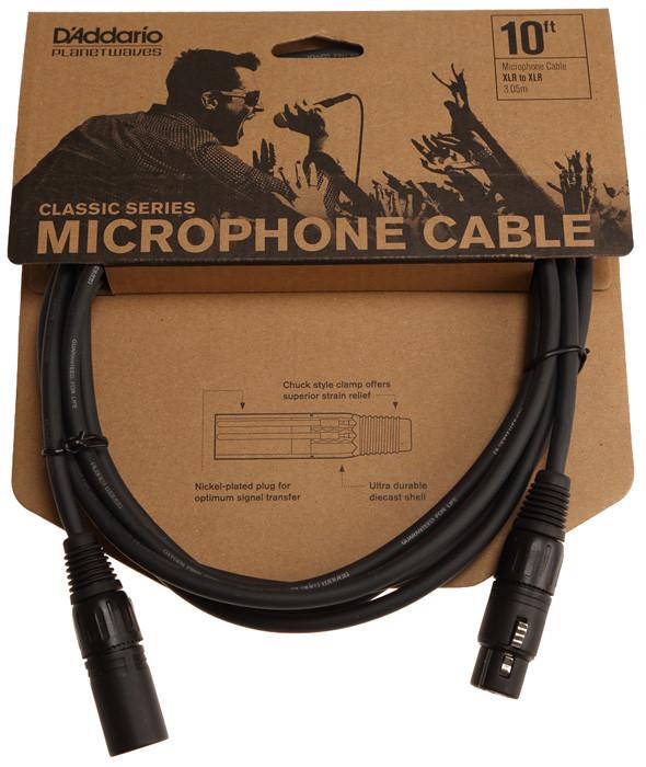 Мікрофонний кабель d'addario PW-CMIC-10 Classic Series Microphone Cable (3m)
