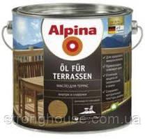 Alpina Ol Fur Terrasen 2,5л (Альпина Террасное масло для дерева)