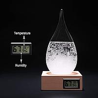 Барометри Штормгласс з електронним дисплеєм Крапля ВЕЛИКА Температура і вологість