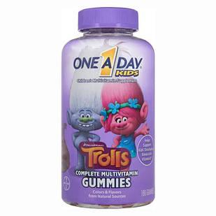 BAYER One-A-Day DreamWorks Trolls мультивітамінні жувальні цукерки в асортименті - 180 жувальних цукерок