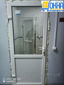 Металлопластиковые двери Вишневое